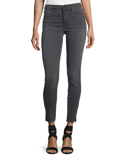 Le High Skinny-Leg Jeans with Raw-Edge Slit