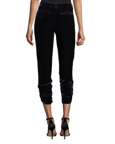 Devlin Cropped Velvet Pants