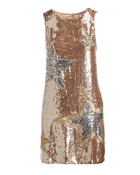 Allegra Sleeveless A-line Sequined Cocktail Dress