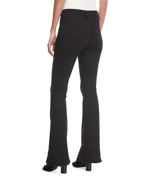 Ali High-Waist Jeans with Side Splits in B(Air) Denim