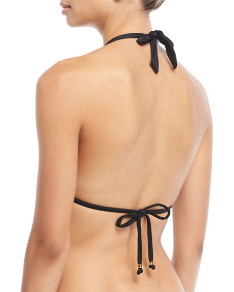 Midnight Lace Halter Swim Top