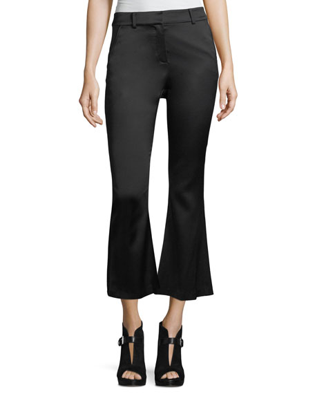 FRAME Crop Flare Crepe Trousers