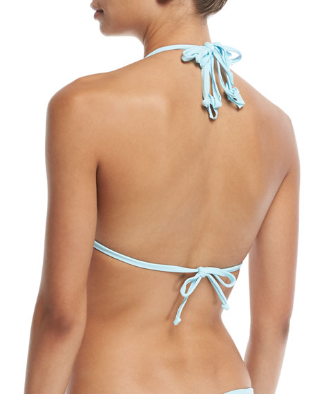 Isla Solid Braided Triangle Swim Top