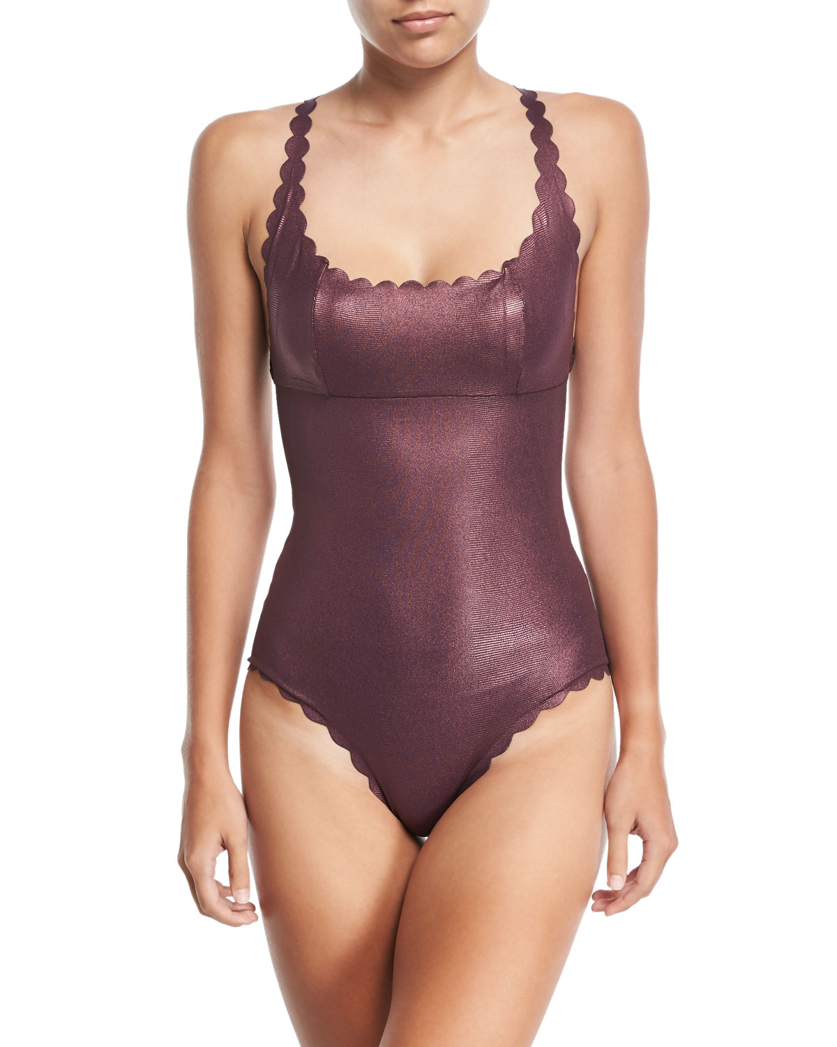 a564a61fd3ba6 PilyQ Gwen Reversible Seamless Wave One-Piece Swimsuit