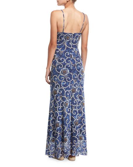 Tulle Maxi Slip Coverup Dress