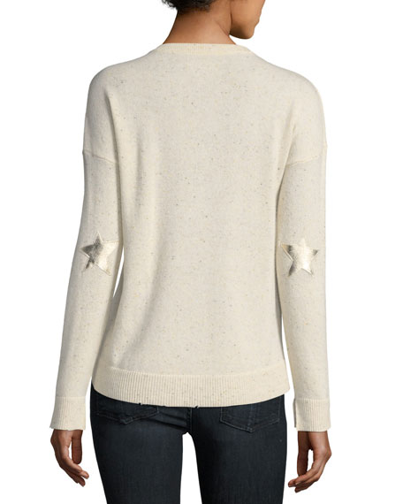 Cici Star-Patch Cashmere Pullover Sweater