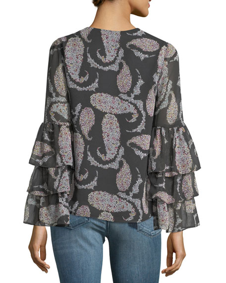 Top Billing V-Neck Blouse