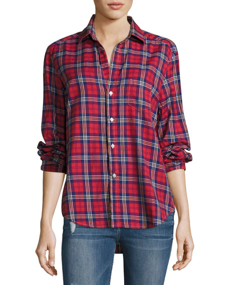 Frank & Eileen Eileen Plaid Button-Front Cotton shirt