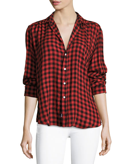 Frank & Eileen Eileen Button-Front Long-Sleeve Plaid Shirt