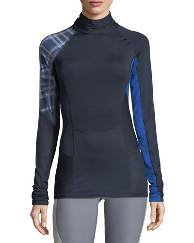Mock-Neck Long-Sleeve Training Top