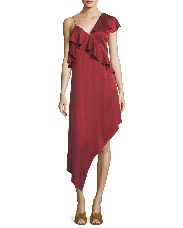 Asymmetrical Shoulder Dress