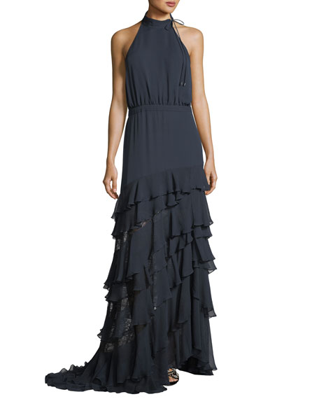 Haute Hippie Stars In The Sky Asymmetric Ruffle