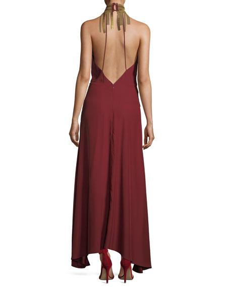 Soul Seeker Draped-Fringe Cocktail Dress