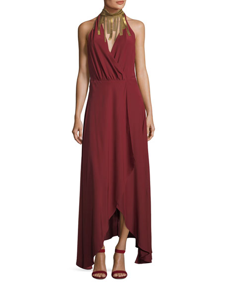 Haute Hippie Soul Seeker Draped-Fringe Cocktail Dress