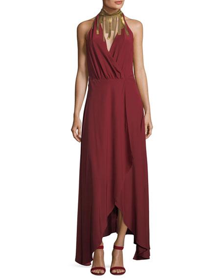 Haute Hippie Soul Seeker Draped-Fringe Cocktail Dress