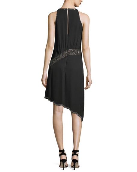 Mojave Desert Embellished Asymmetric Cocktail Dress