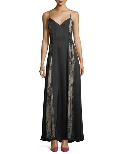 Soul of the World Sleeveless Lace-Up Gown