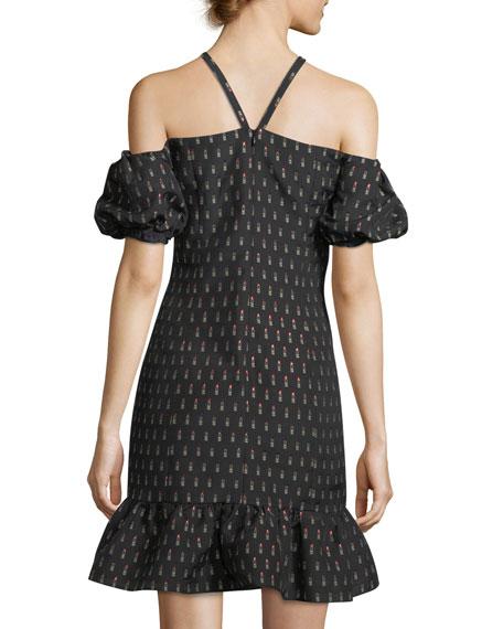 Leonard Lipstick-Print Halter Dress