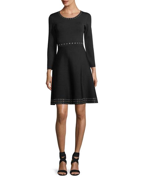Grand Long-Sleeve A-Line Dress