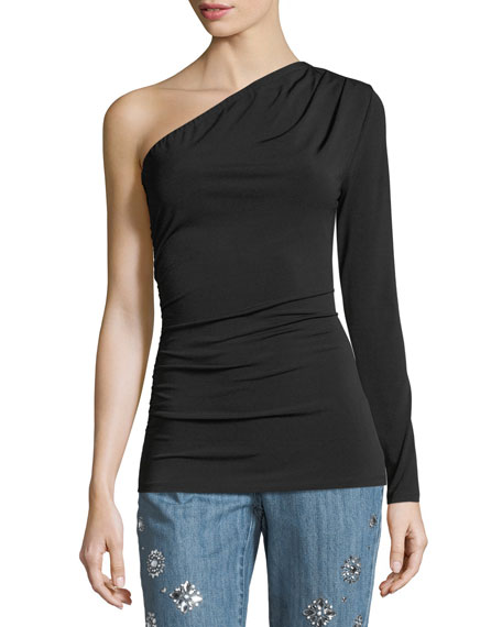 One-Sleeve Jersey Top