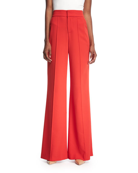 Alice + Olivia Dylan High-Waist Wide-Leg Pants and