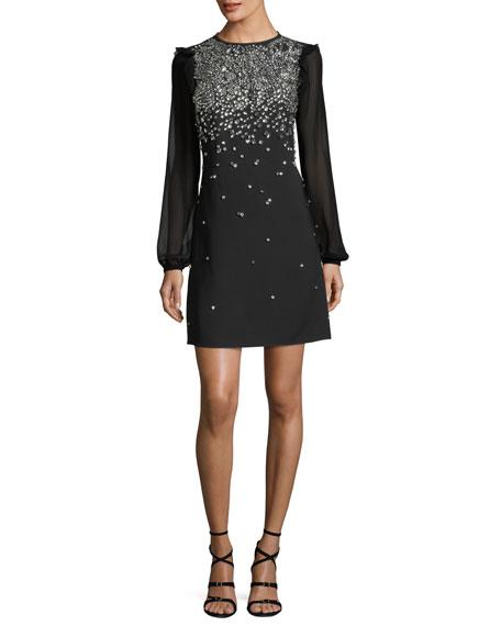 MICHAEL Michael Kors Long-Sleeve Embroidered Dress