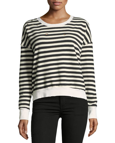 West Village Striped Cropped Sweatshirt