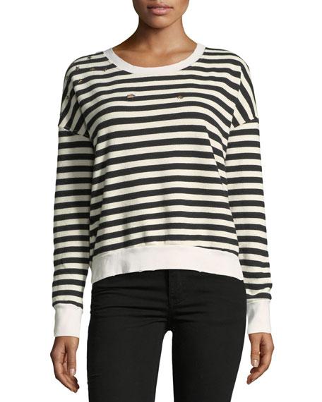 West Village Striped Cropped Sweatshirt