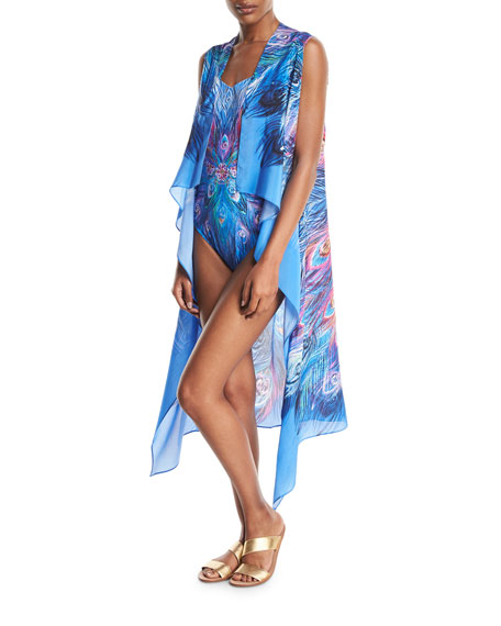 Gottex Dream Catcher Shaped Square-Neck One-Piece Swimsuit and