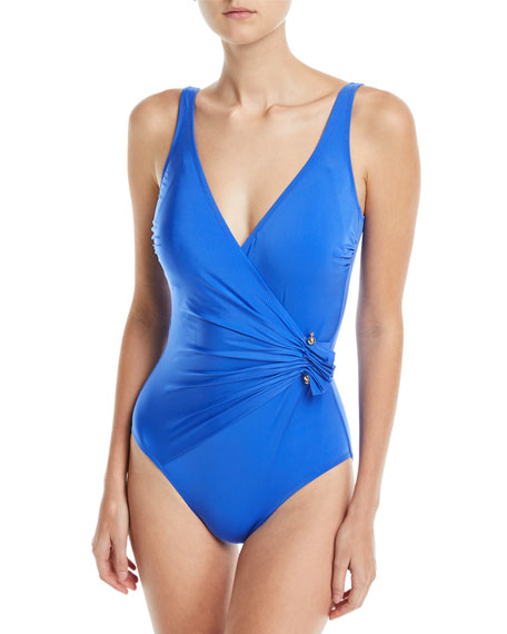 Grace Surplice One-Piece Swimsuit