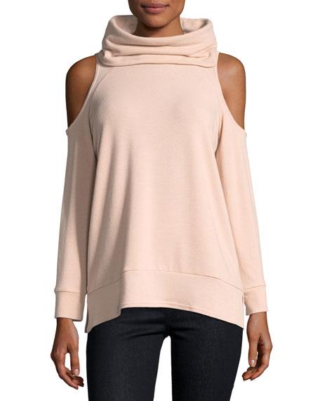 Malden Cowl-Neck Cold-Shoulder Knit Pullover