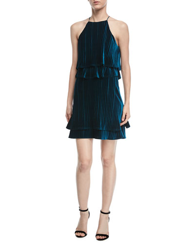 Cosgrove Halter Velvet Cocktail Dress