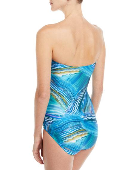Tourmaline Bandeau One-Piece Swimsuit