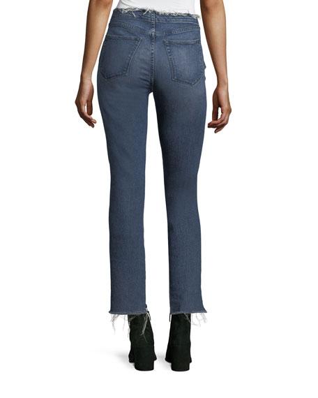 W4 Shelter Straight-Leg Raw-Edge Jeans