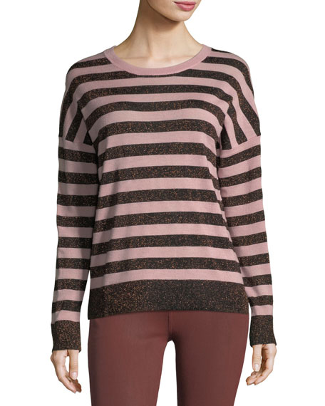 June Crewneck Long-Sleeve Striped Sweater