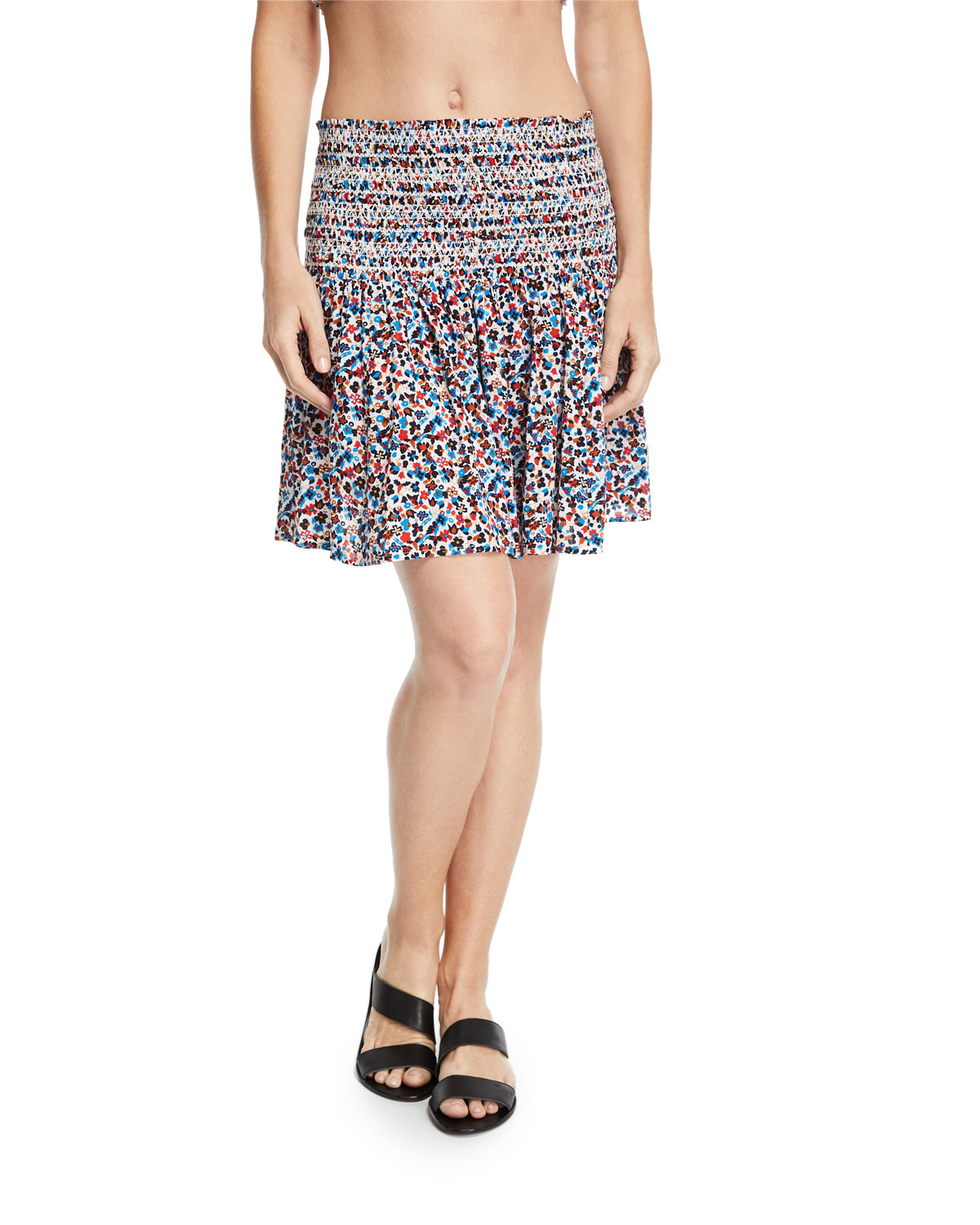 996d417c96ce Tory Burch Wildflower Smocked Coverup Beach Skirt | Neiman Marcus
