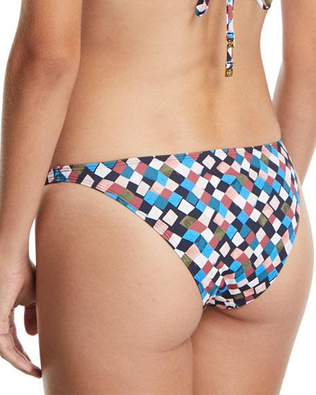 Prism-Printed Hipster Swim Bottoms