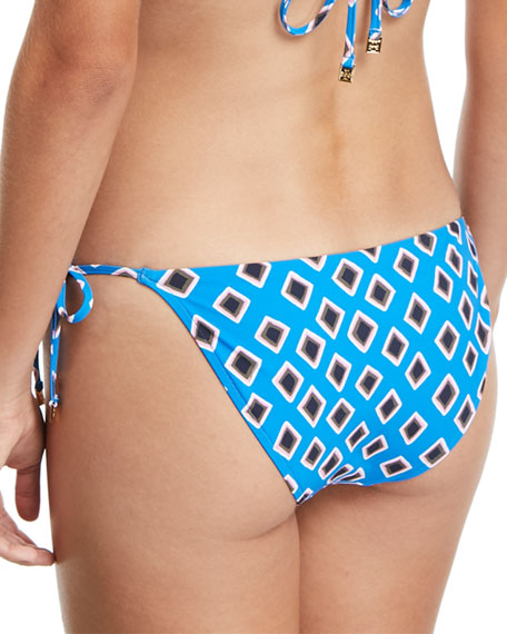 Jacinta Printed Side-Tie Swim Bikini Bottoms