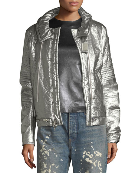 Helmut Lang Helmut Lang Re-Edition Astro Metallic Zip-Front