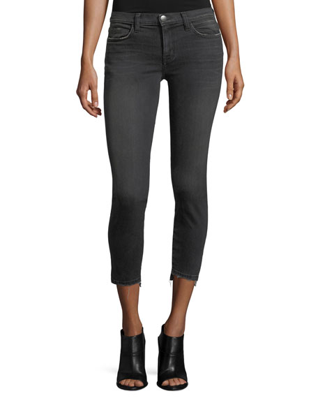 Current/Elliott The Stiletto Skinny Jeans, Black