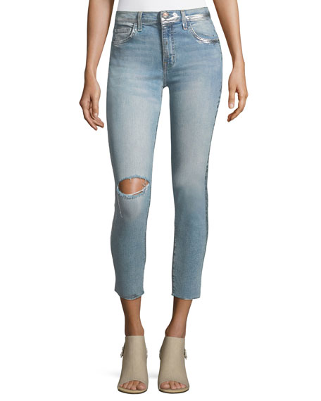 Current/Elliott The High-Waist Straight-Leg Stiletto Jeans
