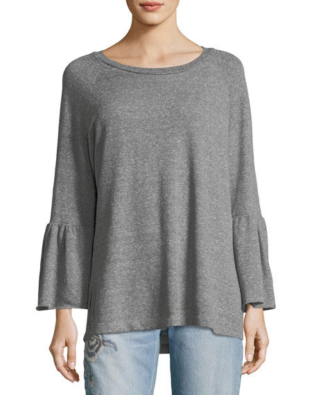 Current/Elliott The Ruffle-Sleeve Sweatshirt
