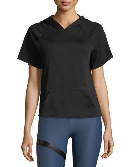 Short-Sleeve Athletic Hoodie Tee
