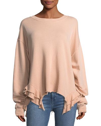 The Slouchy Ruffle Cotton Sweatshirt