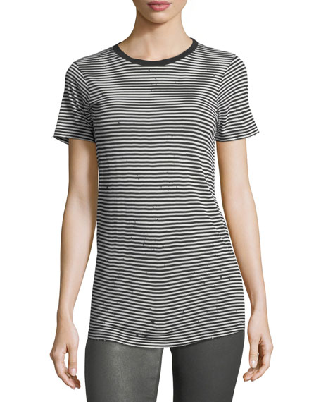 AG Striped Crewneck Short-Sleeve Boy Tee