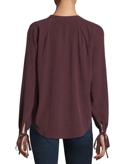 Karina V-Neck Long-Sleeve Top