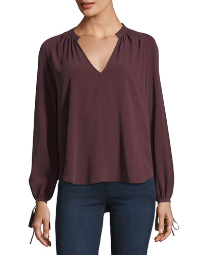 Karina V-Neck Long-Sleeve Top