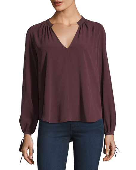 AG Karina V-Neck Long-Sleeve Top