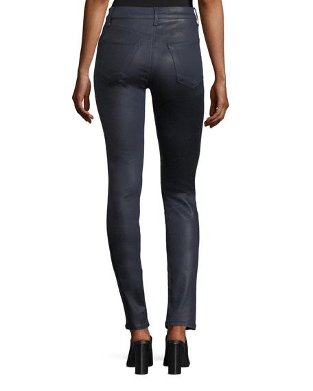Maria High-Rise Skinny-Leg Coated Pants