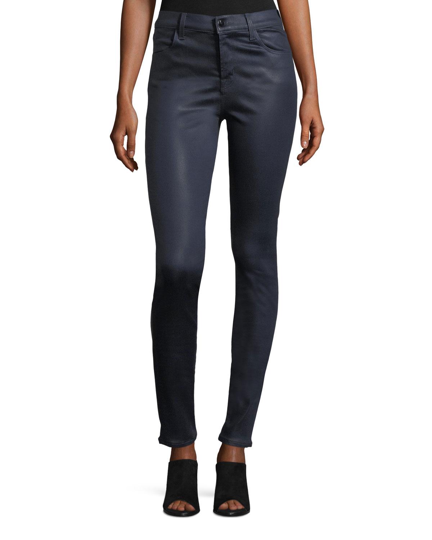 74c766a96099e J Brand Maria High-Rise Skinny Coated Pants